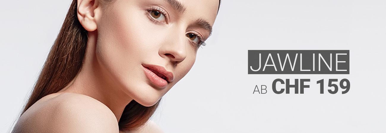 Behandlung der Jawline mit Hyaluron bei M1 Med Beauty Swiss