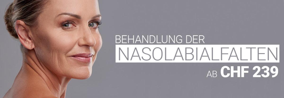 Nasolabialfaltenbehandlung mit Hyaluron bei M1 Med Beauty Swiss