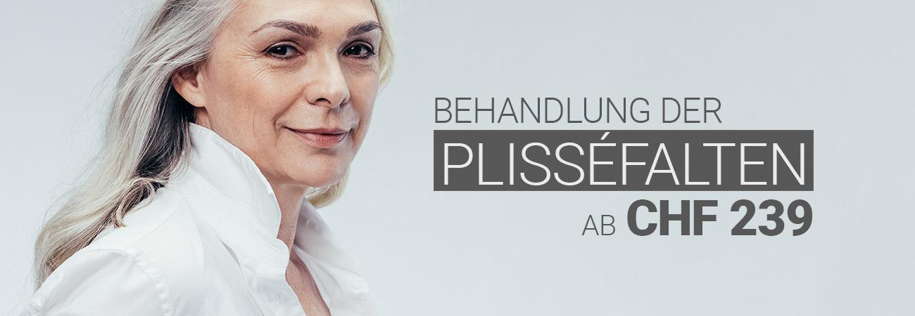 Plisséfaltenbehandlung mit Hyaluron bei M1 Med Beauty Swiss