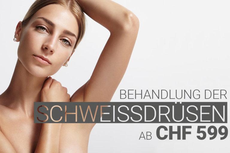 Schweissdrüsenbehandlung mit Muskelrelaxans bei M1 Med Beauty Swiss