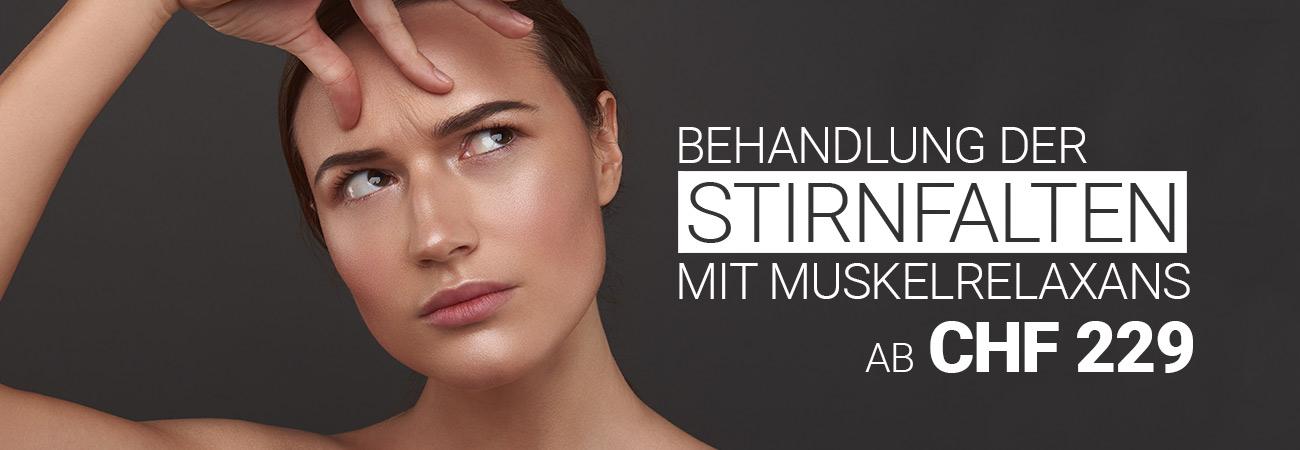 Stirnfaltenbehandlung mit Muskelrelaxans bei M1 Med Beauty Swiss