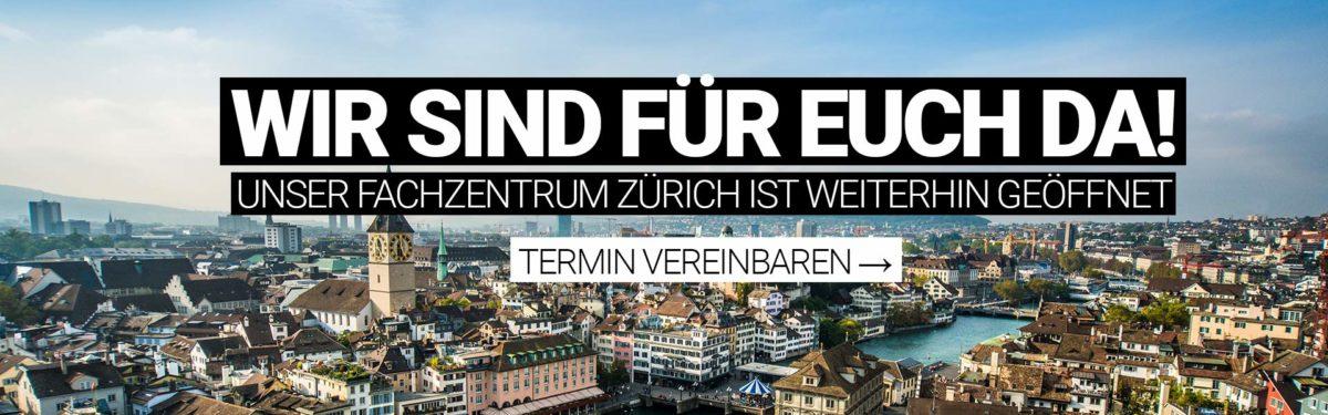 Wir sind für euch da: M1 Fachzentrum Zürich weiterhin geöffnet!