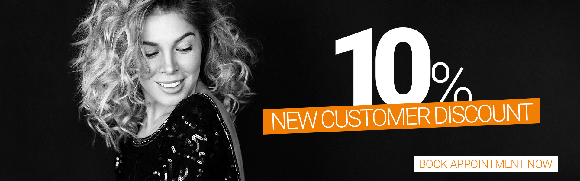 10% new customer discount banner
