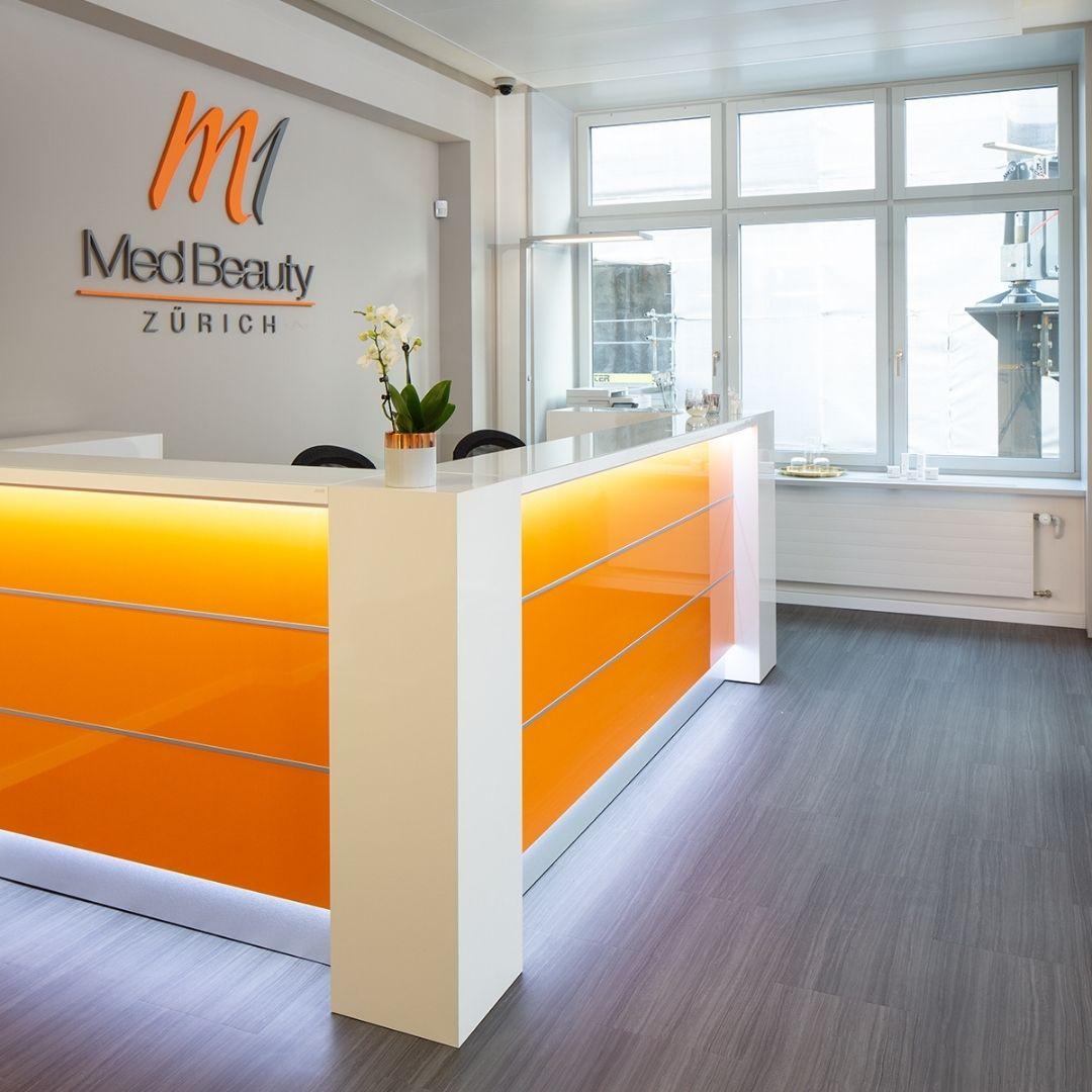 M1 Med Beauty Zürich Praxis Empfang