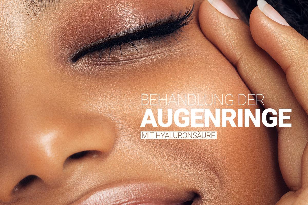 Behandlung der Augenringe mit Hyaluron bei M1 Med Beauty Swiss
