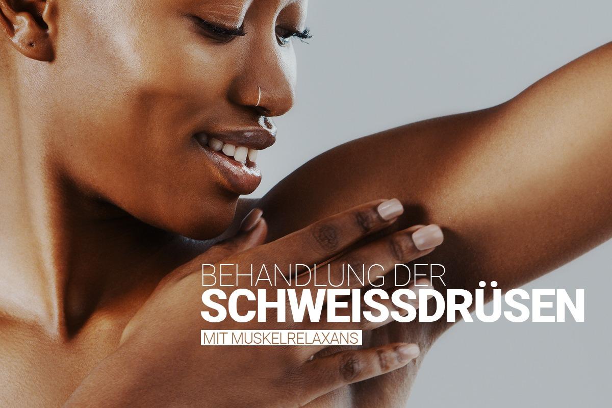 Schweissdrüsenbehandlung bei M1 Med Beauty, Unterspritzung der Schweißdrüsen mit Muskelrelaxans durch erfahrene Ärzte